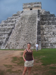 Chichen-Itza stepped pyramid